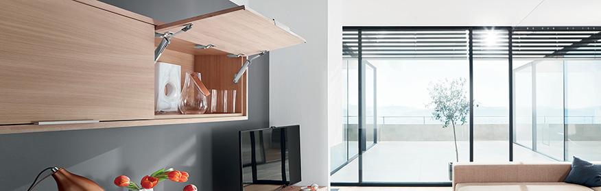 relevants aventos les solutions pour meubles hauts de blum module lmc. Black Bedroom Furniture Sets. Home Design Ideas